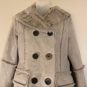 NWOT Pendleton Diana Faux Shearling and Suede Coat